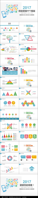 微信营销策划报告PPT模版图片