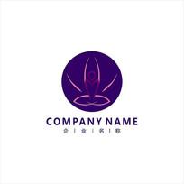 瑜伽 纤体 健身 标志 logo