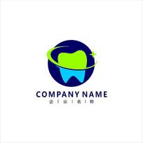 牙齿 牙医 口腔 标志 logo CDR