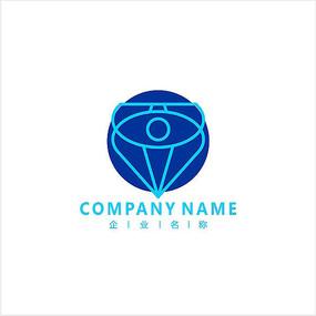 眼睛 钻石 眼镜 标志 logo