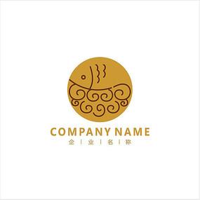 鱼 餐厅 美食 标志 logo