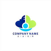 钥匙 云朵 网络 标志 logo CDR