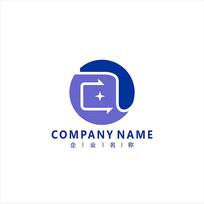 字母A 科技 网络 标志 logo