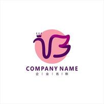 字母B 美容 女性 标志 logo