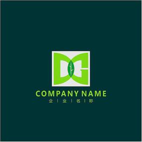 字母DG 农业 绿叶 标志 logo