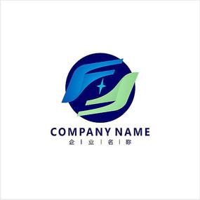 字母F 科技 标志 logo