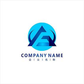 字母F 科技 电子 标志 logo