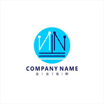 字母N 皇冠 标志 logo