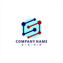 字母S 科技 网络 标志 logo CDR