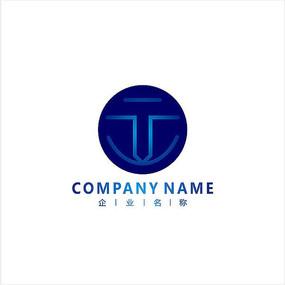 字母T 电子 科技 标志 logo