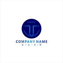 字母T 电子 科技 标志 logo CDR