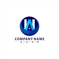 字母W 科技 电子 标志 logo CDR