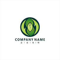 自然 叶子 食品 标志 logo CDR