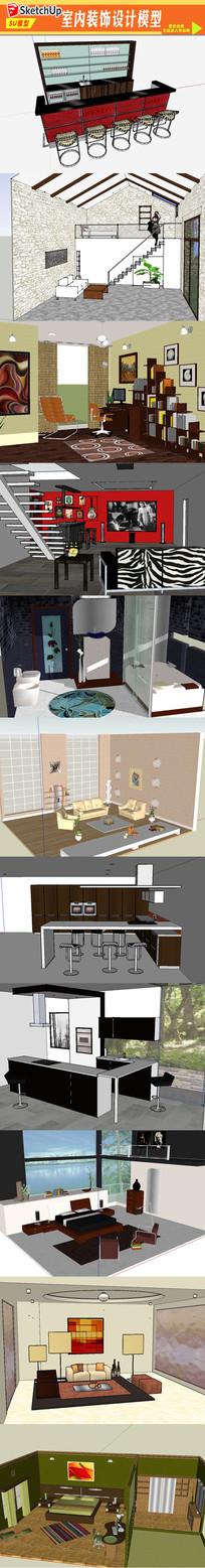 3D室内装饰模型