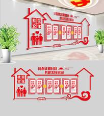 大气中式社区文化墙设计