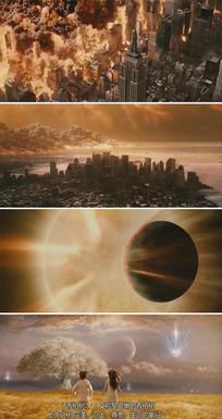 地球灾难火焰爆炸动态视频