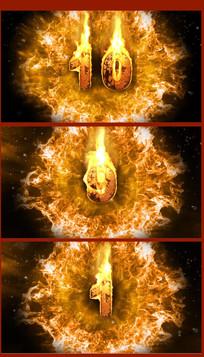 火焰十秒倒记时视频素材