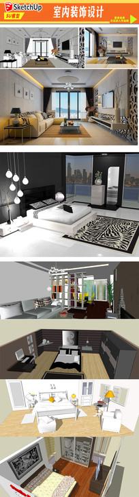 家居空间房间装饰模型设计