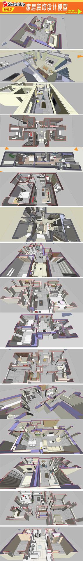 家居装饰设计模型