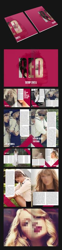 简约时尚杂志画册