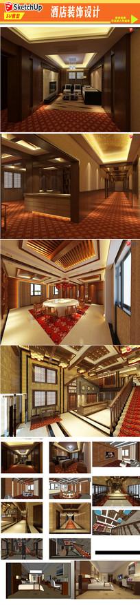 酒店装饰设计模型