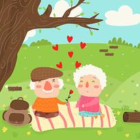 老年人情人节素材