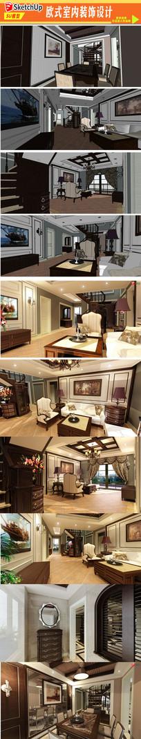 美式室内装饰设计模型