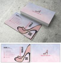 女鞋简约名片