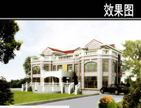 欧式多层大型别墅效果图 JPG