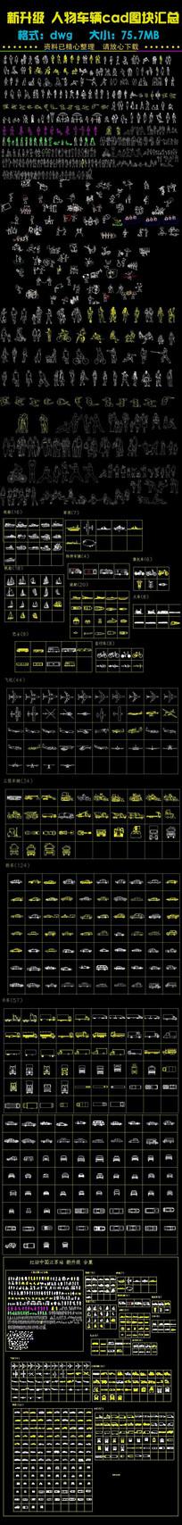 人物交通工具车辆CAD汇总 dwg