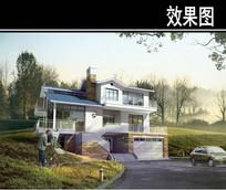 三层私人别墅效果图 JPG