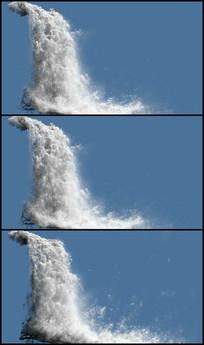 水流瀑布抠像视频素材