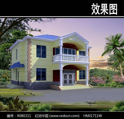 中式别墅效果图JPG素材下载 编号9080211 红动网
