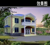 新中式别墅效果图