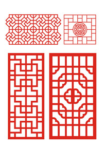 中国传统窗棂图案纹样