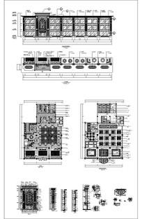 中式宴会厅餐厅CAD详图