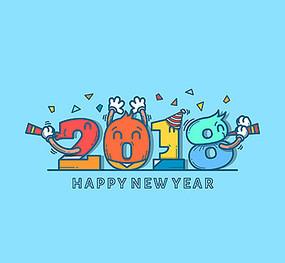 2018卡通字体设计