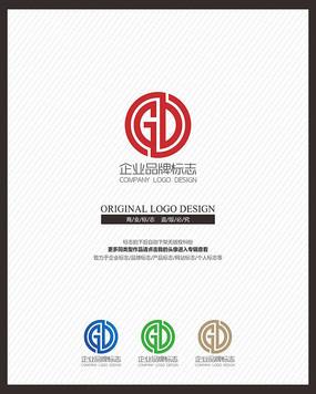 GD字母组合现代简约标志