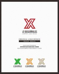 X字母变形机械电器标志