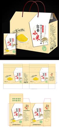 红谷小米大米杂粮食品包装礼盒