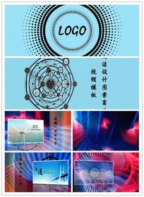 简洁设计图案商业视频模板