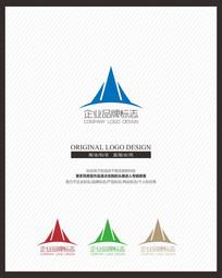 山峰皇冠企业品牌标志设计