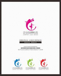 舞蹈教育龙形标志设计