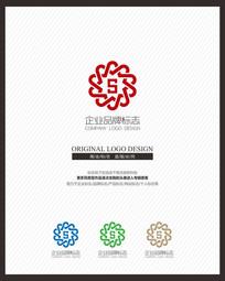 现代S字母企业标志设计