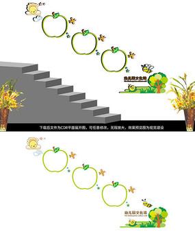 幼儿园楼梯作品边框