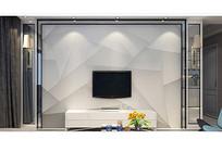 3D立体几何抽象背景墙