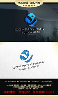 Y字母创意LOGO设计