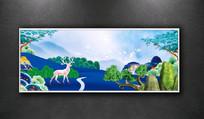 彩墨新中式山水 装饰画