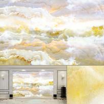 海纳百川天然大理石纹背景墙
