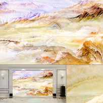 江山如画大理石纹背景墙